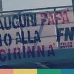 Lo striscione omofobo di FN per la Festa del Papà, diventato rainbow – FOTO