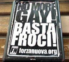 Manifesto omofobo di Forza Nuova