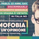 """17 maggio, la campagna di Arcigay: """"L'omofobia non è un'opinione"""""""