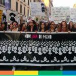 """Siamo stati a """"Non una di meno"""": le nostre foto del corteo contro la violenza sulle donne"""