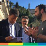 """Umbria, emendamento """"salva-omofobi"""": Omphalos incontra Renzi e gli consegna una lettera. Ecco il testo"""