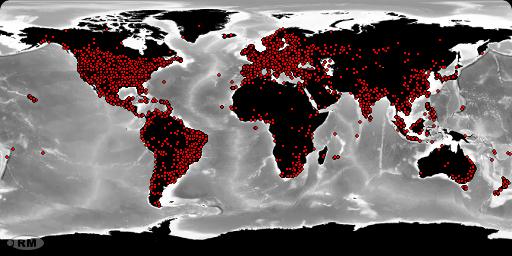 La mappa pubblicata sul sito