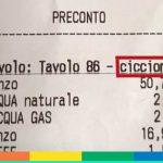 """Roma: chiedono il conto al ristorante e sullo scontrino c'è scritto """"ciccione"""""""