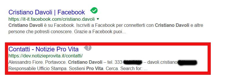 I risultati di Google